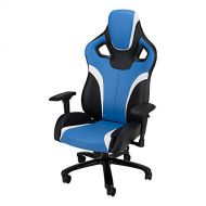 Galaxy XL - Big and Tall, Large Size Gaming Chair by SkyLab Performance Seating, BlueBlackWhite