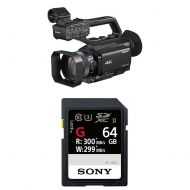Sony PXW-Z90V 4K HD Compact NXCAM Camcorder with Sony High Performance 64GB Memory Card