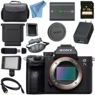 Sony ILCE7M3B Alpha a7 III (A7M3) Mark 3 Mirrorless Digital Camera (Body Only) + 128GB SDXC Card + NP-FW50 Lithium Ion Battery + Professional 160 LED Video Light Studio Series Bun