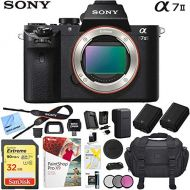 Sony a7 II Full-Frame Alpha Mirrorless Digital Camera 24MP (Black) Body Only a7II ILCE-7M2 with Extra Battery Case Memory Card Deluxe Pro Bundle