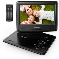 Spacekey Portable DVD Player 11.5 with 5 Hours Rechargeable Battery by SPACEKEY, 9 Swivel Screen, Support USB/SD Slot and 1.8M Car Charger, Support Memory and Region Free (Black)