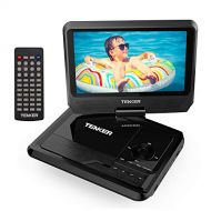 TENKER 9.5 Portable DVD Player with Swivel Screen, Rechargeable Battery and SD Card Slot & USB Port, Black