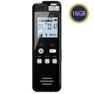 16GB Voice Recorder TOOBOM 1536kbps Digital Voice Activated Recorder with Playback - 2020 Upgraded Sound Audio Recorder Line in for Lectures,Meetings,Interviews,Password,Supports12