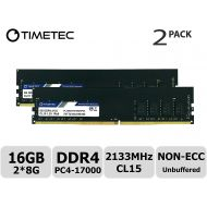 Timetec Hynix IC 8GB DDR4 2133MHz PC4-17000 Unbuffered Non-ECC 1.2V CL15 1Rx8 Single Rank 288 Pin UDIMM Desktop Memory RAM Module Upgrade (8GB)