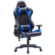 Top Gamer Gaming Chair PC Computer Game Chairs for Video Game (Blue/Black,91)