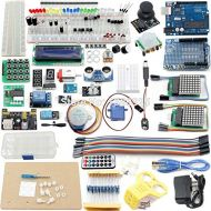 Utini UNO Project The Most Complete Starter Kit for Ar-duino Mega2560 UNO Nano with Tutorial, UNO R3, LCD1602, Power Supply, Servo,ect
