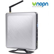VNOPN Mini PC Fanless Industrial Office Personal Desktop Computer with Aluminum Case Intel Core i3-6100U Dual Core USB3.0 WiFi LAN SSD/HDD, Support Linux Windows 7/8/10