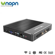 VNOPN Mini PC Small Computers Fanless Industrial Office Personal Desktop Computer with Aluminum Case Intel Core i3 4010U Dual Core 150Mbps WiFi 1000Mbps LAN, Support Linux Windows 7/8/10