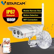 [직배송][추가금없음]Vstarcam CCTV Camera Outdoor Wifi 1080P Wireless ONVIF Web Bullet Camera P2P IP67 Night vision Camera Eye4 IR-Cut SD Card Slot