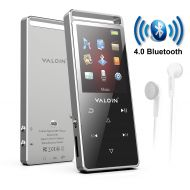 MP3 Player with Bluetooth 4.0, Valoin US Built-in 8GB Metal Shell MP3 Music Player Touch Button,with Pedometer FM Radio Support up to 128GB TF Card(Not Included)
