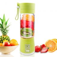 Vech Personal Juice Blender, Electric USB Glass Smoothie Blender Juicer Cup, Multifunctional Portable Travel Fruit Mixer with 6 Blades, 2200mAh Rechargable Battery