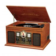 Victrola Nostalgic Classic Wood Record Player 6-IN-1 with Bluetooth and CD Player (VTA200B)