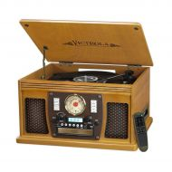 Victrola Wooden 8-in-1 Nostalgic Record Player with Bluetooth and USB Encoding