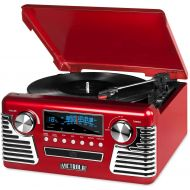 It.innovative technology Victrola 50s Retro 3-Speed Bluetooth Turntable with Stereo, CD Player and Speakers, Blue