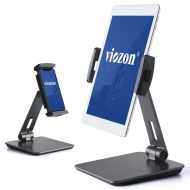Viozon Stand, Tablet Stands 360° Rotatable Aluminum Alloy Desktop Mount Stand for 7-13inch Tablet,3.5-6.5 inch Cellphone iPad Pro iPadAir iPad Mini Surface and Surface Pro (Grey)