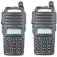 BaoFeng 2pcs Baofeng 5W with High Mid Low UV-82 Dual Band Ham Radio Station Amateur Portable Radio