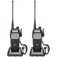 BaoFeng UV-5R Upgrade Version UV-5XP Extended Battery VHF UHF Two Way Radio 7.4v 8W Dual-band Walkie Talkie 2 Pack