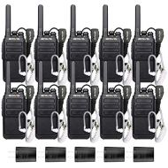 Retevis RT28 Two Way radios License-Free walkie Talkies with Covert Air Acoustic Earpiece (10 Pack)