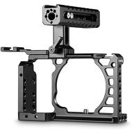 SmallRig SMALLRIG Cage Kit for Sony Alpha A6500 with NATO Handle and Cold Shoe Mount for Handheld Shooting  2081