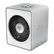 Vornado 2 Settings Personal Vortex Circulation Sleek Steel Metal Heater, White