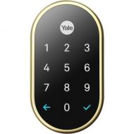 Yale Secure Lock, Tamper-proof, key-free deadbolt that connects to Nest App, Lock and Unlock Your Door from Anywhere (Polished Brass)