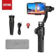 Zhi yun Zhiyun Smooth 4 Smartphone Stabilizer 3 Axis Handheld Gimbal Stabilizer with Adapter for iPhone x 8 7 6plus Samsung Galaxy S8 Note 8/GoPro Hero 6/5/4/3(The Latest Version +Action C